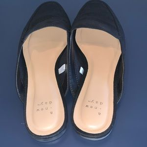 Women's Mabel Microsuede Square Toe Mules:A NewDay